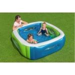 Bestway 51132 bazén čtverec s průzory 168 x 168 x 56 cm